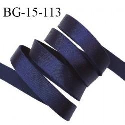 Devant bretelle 15 mm en polyamide attache bretelle rigide pour anneaux couleur bleu nuit brillant haut de gamme prix au mètre