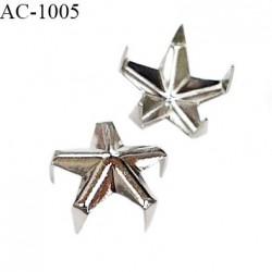 Embout à écraser clou étoile en métal couleur chrome diamètre 9 mm prix à l'unité