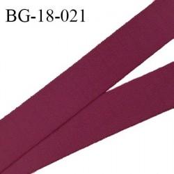 Devant bretelle 18 mm en polyamide attache bretelle rigide pour anneaux couleur bordeaux haut de gamme prix au mètre