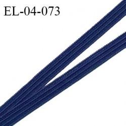 Elastique 4 mm spécial lingerie et couture couleur bleu marine grande marque fabriqué en France prix au mètre