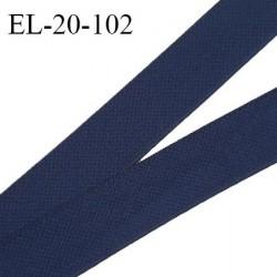 Elastique 19 mm haut de gamme élastique souple allongement +130% doux au toucher couleur bleu marine largeur 19 mm prix au mètre
