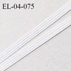 Elastique 4 mm spécial lingerie et couture couleur écru grande marque fabriqué en France prix au mètre