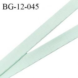 Devant bretelle 12 mm en polyamide attache bretelle rigide pour anneaux couleur pistache pastel haut de gamme prix au mètre