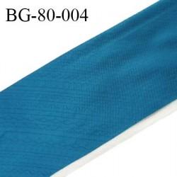 Galon rehausse 75 cm couleur bleu paon avec motifs largeur 75 cm prix au mètre