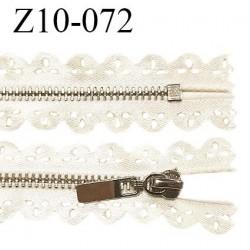Fermeture zip 10 cm non séparable couleur doré light longueur 10 cm largeur 2.5 cm prix à l'unité