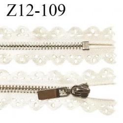 Fermeture zip 12 cm non séparable couleur doré light brillant longueur 12 cm largeur 2.5 cm l prix à l'unité