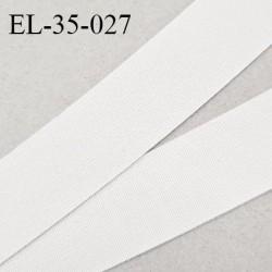 Elastique 35 mm plat très belle qualité couleur naturel polygomme forte élasticité largeur 35 mm prix au mètre