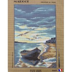 Canevas à broder 45 x 65 cm marque MARGOT thème MAREE BASSE D'APRES DARLA  fabrication française
