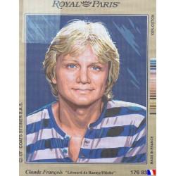 Canevas à broder 45 X 65 cm marque ROYAL PARIS thème CLAUDE FRANCOIS photo Léonard de Raemy fabrication française