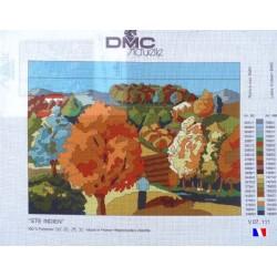 """Canevas à broder 50 x 65 cm marque DMC Actuelle thème """"été indien"""" fabrication française"""