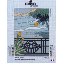 "Canevas à broder 50 x 65 cm marque DMC ACTUELLE thème ""magic night"" fabrication française"