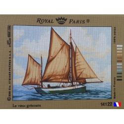 Canevas à broder 45 x 60 cm marque ROYAL PARIS thème le vieux gréement made in France