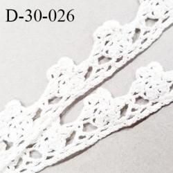 Dentelle 30 mm crochet couleur naturel largeur 30 mm prix au mètre