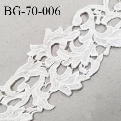 Galon ruban guipure 70 mm motif feuillage couleur naturel largeur 70 mm prix au mètre