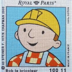 Canevas à broder ENFANT 15 x 15 cm marque ROYAL PARIS BOB LE BRICOLEUR fabrication française