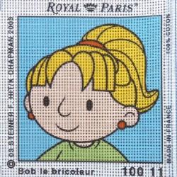 Canevas à broder ENFANT 15 x 15 cm marque ROYAL PARIS BOB LE BRICOLEUR ZOE L'ASSOCIEE fabrication française