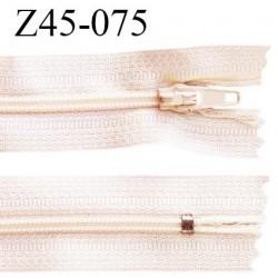 Fermeture zip 45 cm non séparable couleur crème zip glissière nylon largeur 5 mm longueur 45 cm largeur 22 mm prix à l'unité