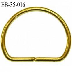Boucle étrier anneau demi rond métal couleur or doré largeur 3.5 cm intérieur 3 cm idéal pour sangle 2.8 cm prix à la pièce