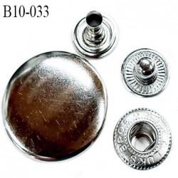 Bouton pression composé de 4 éléments diamètre 10 mm en métal couleur chromé prix à l'unité