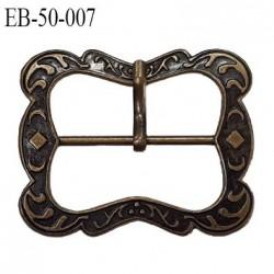 Boucle ceinture 47 mm métal style laiton ancien largeur extérieur 4.7 cm intérieur 3 cm prix à la pièce