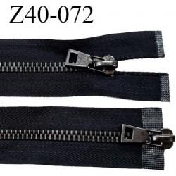 Fermeture zip 40 cm couleur noir double curseur longueur 40 cm largeur 3.4 cm zip métal largeur 7 mm prix à l'unité