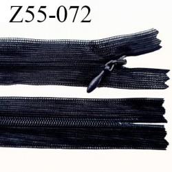 Fermeture zip 55 cm non séparable couleur bleu marine zip glissière nylon invisible longueur 55 cm largeur 25 mm prix à l'unité