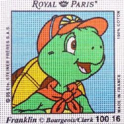 Canevas à broder ENFANT 15 x 15 cm marque ROYAL PARIS FRANKLIN fabrication française