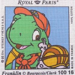 Canevas à broder ENFANT 15 x 15 cm marque ROYAL PARIS FRANKLIN ET ARNAUD L'ESCARGOT fabrication française