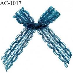 Noeud lingerie dentelle haut de gamme couleur bleu vert (fleur de lagune) prix à la pièce