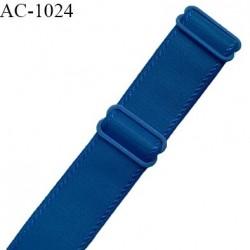 Bretelle lingerie SG 24 mm très haut de gamme couleur bleu paradis avec 2 barrettes largeur 24 mm longueur 16 cm prix à l'unité