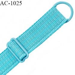 Bretelle 20 mm lingerie SG couleur turquoise horizon largeur 20 mm longueur 30 cm très haut de gamme prix à la pièce