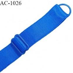 Bretelle 20 mm lingerie SG couleur bleu royal largeur 20 mm longueur 31 cm très haut de gamme prix à la pièce