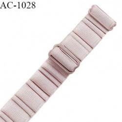 Bretelle lingerie SG 20 mm très haut de gamme couleur brume rosée avec 2 barrettes largeur 20 mm longueur 30 cm prix à l'unité