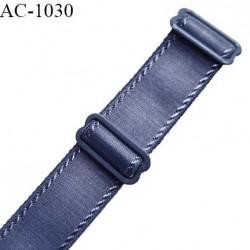 Bretelle lingerie SG 20 mm très haut de gamme couleur encre bleue avec 2 barrettes largeur 20 mm longueur 16 cm prix à l'unité