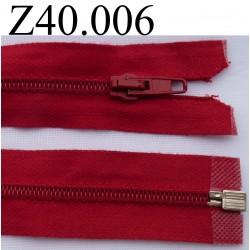 fermeture  éclair longueur 40 cm couleur bleu séparable zip nylon largeur 3.2 cm largeur du zip 5 mm
