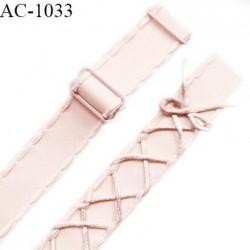 Bretelle lingerie SG 20 mm très haut de gamme couleur satin ou saumon laçage queue de souris longueur 40 cm prix à l'unité