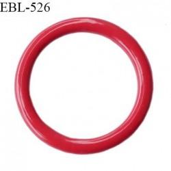 Anneau de réglage 11 mm en pvc couleur rouge passion diamètre intérieur 11 mm diamètre extérieur 16 mm prix à l'unité