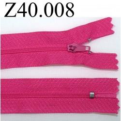 fermeture éclair longueur 40 cm couleur rose fushia séparable zip nylon largeur 2.5 cm