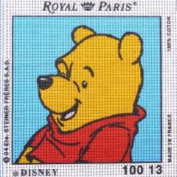 Canevas à broder ENFANT 15 x 15 cm marque ROYAL PARIS thème WINNIE L'OURSON fabrication française