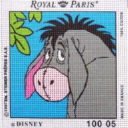 Canevas à broder ENFANT 15 x 15 cm marque ROYAL PARIS thème WINNIE L'OURSON BOURRICOT fabrication française