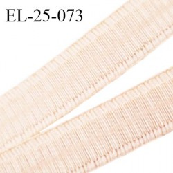 Elastique 24 mm bretelle et lingerie couleur champagne rosé fabriqué en France pour une grande marque prix au mètre