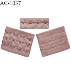 Agrafe 76 mm attache SG haut de gamme couleur bois de rose 3 rangées 4 crochets largeur 76 mm hauteur 57 mm prix à l'unité
