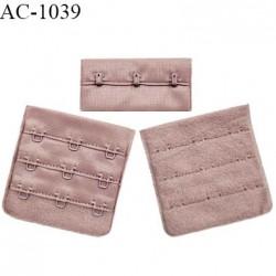 Agrafe 57 mm attache SG haut de gamme couleur bois de rose 3 rangées 3 crochets largeur 57 mm fabriqué en France prix à l'unité
