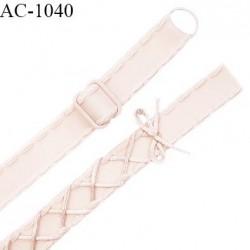 Bretelle lingerie SG 18 mm très haut de gamme couleur satin ou saumon laçage queue de souris longueur 42 cm prix à l'unité