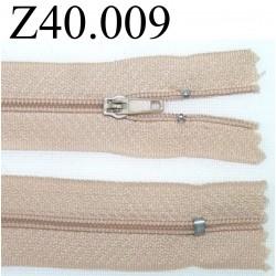fermeture éclair longueur 40 cm couleur beige séparable zip nylon largeur 2.5 cm