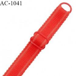 Bretelle 18 mm lingerie SG haut de gamme couleur rouge garance largeur 18 mm longueur 32 cm prix à la pièce