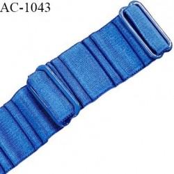 Bretelle 20 mm lingerie SG haut de gamme couleur bleu royal largeur 20 mm longueur 31 cm prix à la pièce