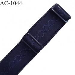 Bretelle 20 mm lingerie SG haut de gamme couleur bleu astral largeur 20 mm longueur 32 cm prix à la pièce
