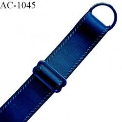 Bretelle 18 mm lingerie SG couleur aigue marine largeur 18 mm longueur 16 cm très haut de gamme prix à la pièce