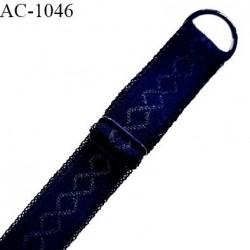 Bretelle 18 mm lingerie SG haut de gamme couleur bleu astral largeur 18 mm longueur 32 cm prix à la pièce